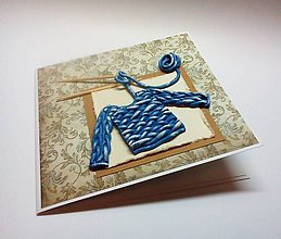 Papiernictvo - Pohľadnica ... pletiem Ti sveter ... - 11430006_