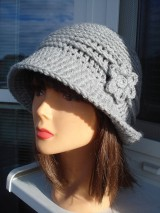 Čiapky - štýlový čiapko-klobučik - 11429189_