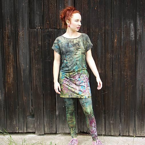 Nohavice - Bavlněné malované legíny / barevné - 11429130_