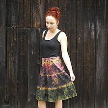 Sukne - Hodvábna sukňa S-M - 11429747_