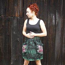 Sukne - Bavlněná sukňa tisk/malba S-M - 11429792_