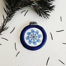 Dekorácie - FIMO vianočná ozdoba - snehová mandala - 11428910_