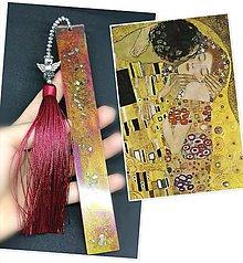 Papiernictvo - Záložka zo živice  (Klimt) - 11431867_