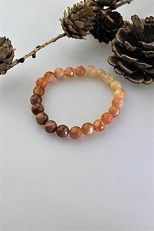 Náramky - náramok slnečný kameň - brúsený - 11431277_