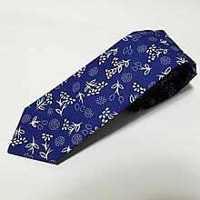 """Doplnky - pánska kravata """"modrotlač"""" - 11430248_"""