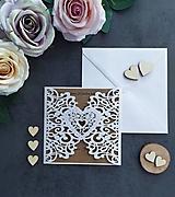 Papiernictvo - Elegantné svadobné oznámenie - 11430560_