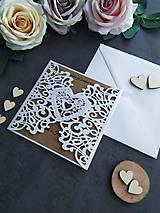 Papiernictvo - Elegantné svadobné oznámenie - 11430561_