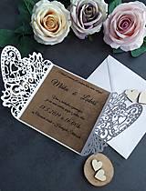 Papiernictvo - Elegantné svadobné oznámenie - 11430562_