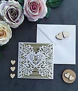 Papiernictvo - Elegantné svadobné oznámenie - 11430571_