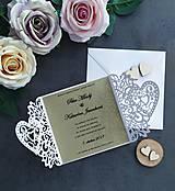 Papiernictvo - Elegantné svadobné oznámenie - 11430572_