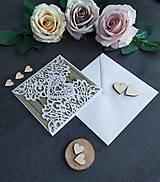 Papiernictvo - Elegantné svadobné oznámenie - 11430573_