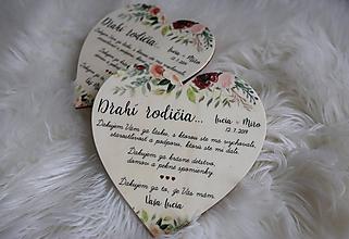 Darčeky pre svadobčanov - Magnetka ako poďakovanie pre rodičov - 11431577_