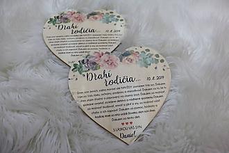 Darčeky pre svadobčanov - Magnetka ako poďakovanie pre rodičov - 11431594_
