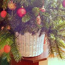 Košíky - Košík - kryt na stojan vianočného stromčeka  prieme 30 cm - 11430500_