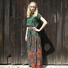 Sukne - Maxi sukňa s malbou S-M - 11430667_