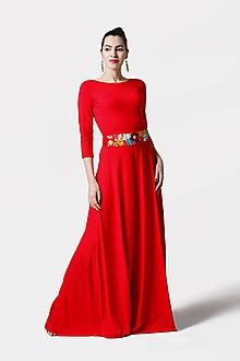 Šaty - Šaty dlhé červené - 11432760_