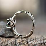 Prstene - Snubáčik - elegán so surovým kameňom - 11433354_