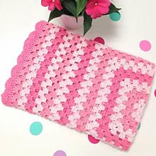 Textil - Háčkovaná deka Ruženka 74x74 cm - 11433089_