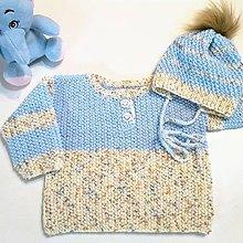 Detské súpravy - Set pre bábätko - svetrík a čiapka - 11432102_