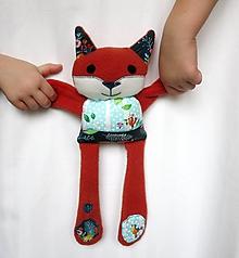 Hračky - Textilné zvieratko - Líštička z Mentolového hája - 11433511_