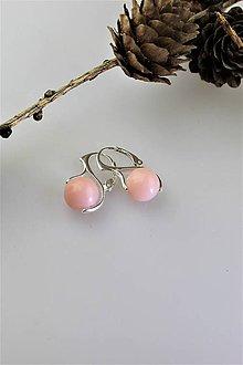 Náušnice - ružový opál náušnice v striebre - 11432453_