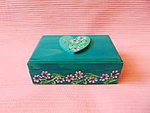 Krabičky - Drevená šperkovnička - 11432937_