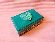 Krabičky - Drevená šperkovnička - 11432939_