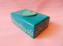 Krabičky - Drevená šperkovnička - 11432942_