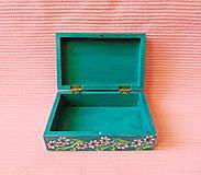 Krabičky - Drevená šperkovnička - 11432945_