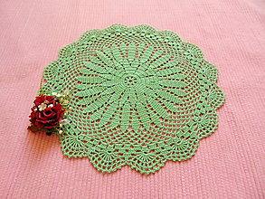 Úžitkový textil - Háčkovaná dečka Zelená - 11432878_