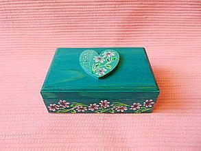 Krabičky - Drevená šperkovnička - 11432934_