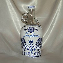 Iné - Ozdobná fľaša Jozefovica s uškom folklórna - 11432292_