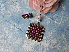 Sady šperkov - Retro bodečky - 11433209_