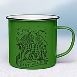 Nádoby - Zelený smaltovaný hrnček - 11431946_