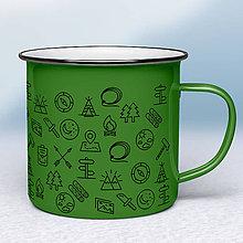 Nádoby - Zelený smaltovaný hrnček - 11431952_