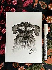 Kresby - Ilustrácia - Vaša zvieracia láska - podľa vašej fotky - 11432581_