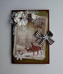 Papiernictvo - Vianočná so srnkami - 11433383_