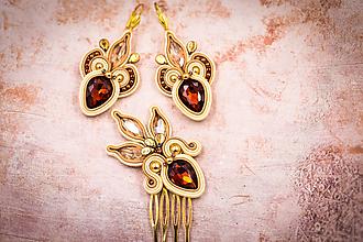 Sady šperkov - ART deco soutache set - 11433703_