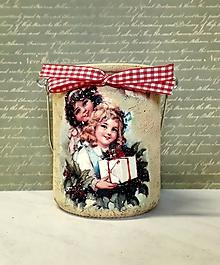 Svietidlá a sviečky - lampášik vintage vianoce - 11434024_