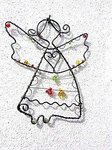 Dekorácie - anjelik žiarivý - 11432116_