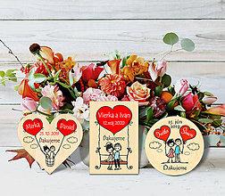Darčeky pre svadobčanov - Svadobné magnetky - 11435044_