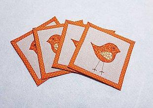 Úžitkový textil - Podložky  s vtáčikom - 11436003_