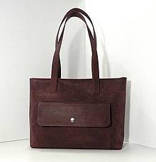 Veľké tašky - Kožená taška Meda No.1 - 11435777_
