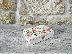 Krabičky - Drevená krabička s vrchnákom - 11435264_