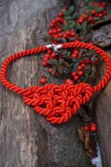 Náhrdelníky - Červený uzlový náhrdelník - 11435812_