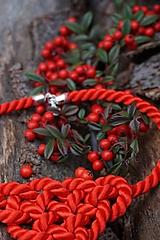Náhrdelníky - Červený uzlový náhrdelník - 11435814_