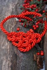 Náhrdelníky - Červený uzlový náhrdelník - 11435815_