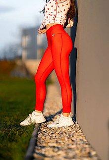 Nohavice - Termo legíny červené - 11434265_