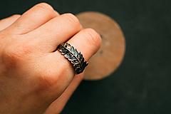 Prstene - Prsteň papraď patina - 11434416_