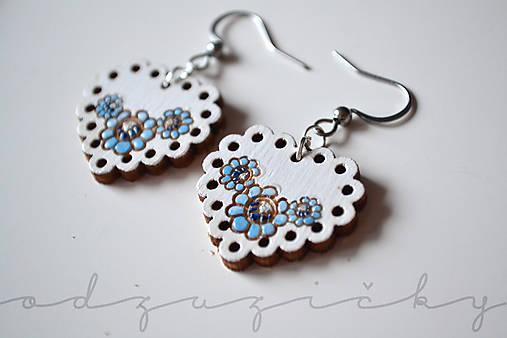 Náušnice Zuzička mini mini (Modrá)